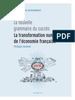 La transformation numérique de l'économie française. Rapport Lemoine
