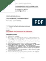 Metrología Unidad 12 Control y Verificación de M-H