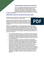 Produção Limpa e Desenvolvimento de Produtos Sustentáveis