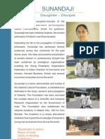Sunandaji - Daughter & Disciple of Swamy Parthasarathy