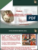 """""""HISTORIA DE LA MEDICINA LEGAL Y LOS PERITAJES MEDICO FORENSES EN EL URUGUAY (1724-1883)"""""""