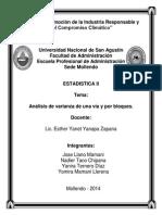 Analisis de Varianza de Una via y Por Bloques. (1)