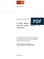 A Função Auditoria de Sistemas de Informacao Modelos Funcional e de Competencias