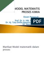 II. Model Matematis Proses Kimia