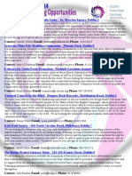 Weekly Opportunities 17 November 2014