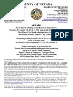Nevada County BOS Agenda for Nov. 18
