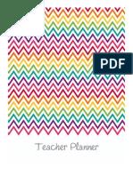 Teacher Planner Rainbow