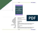 Linguistics for L2 Teachers-Routledge (2000)