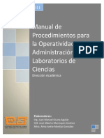 Manual Para La Operatividad de Laboratorios