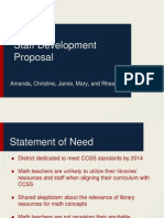 staff development proposal