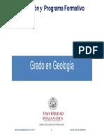 Grado en Geologia 2014-15