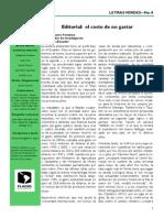Fontaine, G. - El Costo de No Gastar (Letras Verdes - FLACSO)