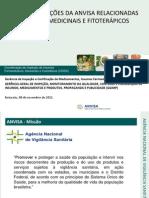 Regulamentações Da Anvisa Relacionadas a Plantas Medicinais e Fitoterápicos - Anvisa 2012