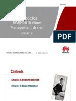 OWB600305 SGSN9810 Alarm Management System ISSUE1.0