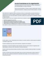 Magnitud y Estructura de Inversiones en La Organización