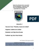 Informe Sobre Las Filosofias y Gurus de La Calidad 1