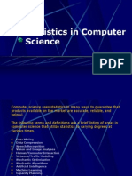 Statistics in Computer Science