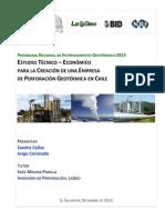 Estudio Tecnico-economico Creacion Empresa Perforacion