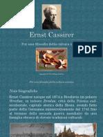 Ernst Cassirer. Per Una Filosofia Della Cultura Umana
