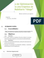 Proyecto Métodos Cuantitativos - Modelo de Optimización para una empresa mobiliaria