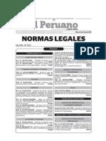 20141007-Normas Legales Del Dia Martes 07 de Octubre Del 2014