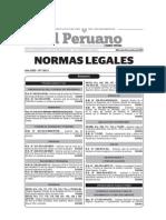 20141012-Normas Legales Del Dia Miercoles 08 de Octubre Del 2014