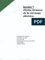 EFECTOS TERMICOS DE LA CORRIENTE ELECTRICA