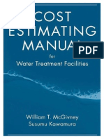 Cost Estimating Manual for Water & Wastewater Treatment Facilities