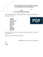 Training Report Formatcs