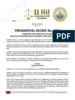 Pd 1529 Property Registration Decree