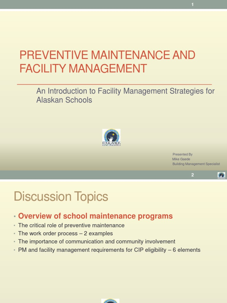 Preventive Maintenance and Facility Management | Energy And