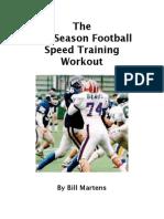 off season football speed training workout