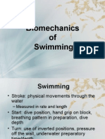 Bio Mechanics of Swimming