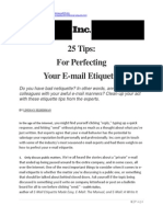 Tips for Perfecting Your E-mail Etiquette
