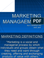 marketing management unit 1 ppt