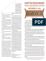 November 2, 2014 Sunday Bulletin