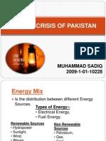 -Energy Crisis of Pakistan Presentation