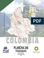 Geología de La Plancha 246 Fusagasugá