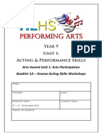 year 9 drama unit 1a
