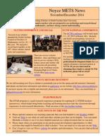November 2014 Noyce METS Newsletter