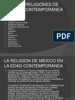 Tipos de Religiones de La Edad Contemporanea