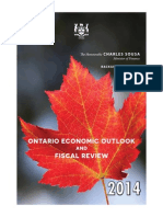 Ontario Economic Outlook and Fiscal Review