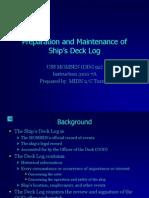 preparation and maintenance of ships deck log