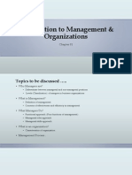 Introduction to Management & Organizations [Chapter 01]