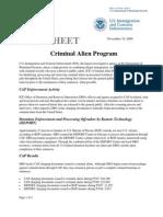 ICE Fact Sheet - Criminal Alien Program (CAP) (11/19/08)