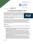 ICE Fact Sheet - Law Enforcement Support Center (LESC) (11/19/08)
