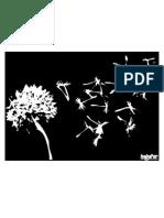 Stencil Floating Dandelion Seeds 2
