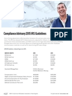 Compliance Advisory - 2015 IRS Guidelines
