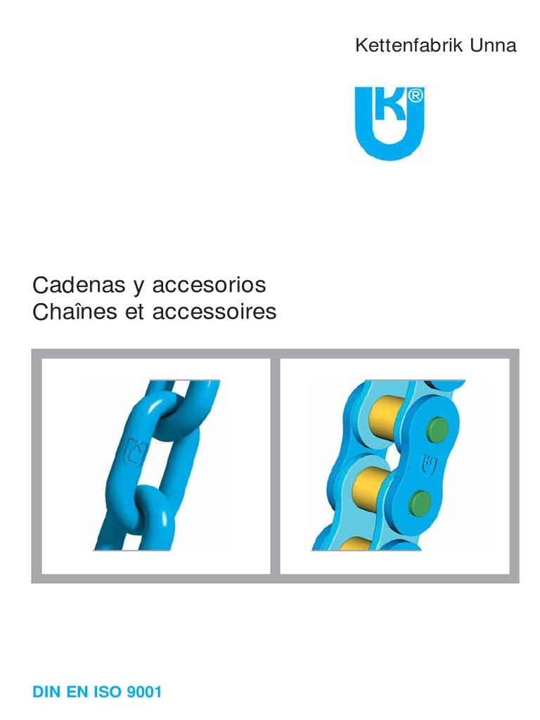 Cadena de acero 3,5 mm o 4,5 mm de di/ámetro de acero 0,5 m 1 m 3 m 5 m 25 m metro Grosor y longitud a elegir 2 mm Cadena de acero galvanizado DIN763