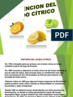 obtención del ácido citrico